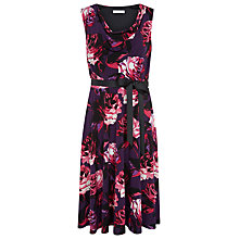 Buy Kaliko Rose Print Dress, Berry Online at johnlewis.com