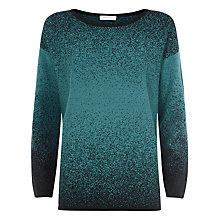 Buy Windsmoor Ombre Print Long Sleeve Jumper, Teal Online at johnlewis.com