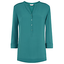 Buy Windsmoor V-Neck Blouse, Teal Online at johnlewis.com