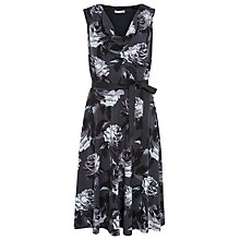 Buy Kaliko Rose Print Dress, Multi Black Online at johnlewis.com