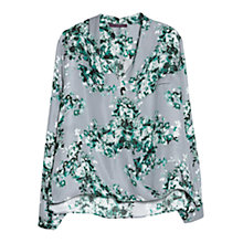 Buy Violeta by Mango Floral Print Blouse, Dark Green Online at johnlewis.com