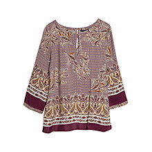 Buy Violeta by Mango Mixed Print Blouse, Dark Red Online at johnlewis.com