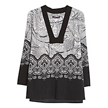 Buy Violeta by Mango Baroque Print Blouse, Black Online at johnlewis.com