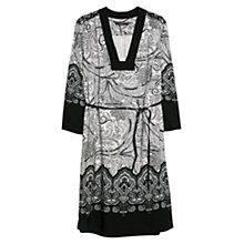 Buy Violeta by Mango Baroque Print Dress, Black Online at johnlewis.com