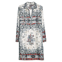 Buy Violeta by Mango Paisley Print Dress, Bright Red Online at johnlewis.com