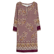 Buy Violeta by Mango Mixed Print Dress, Dark Red Online at johnlewis.com