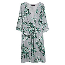 Buy Violeta by Mango Floral Print Dress, Dark Green Online at johnlewis.com