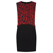 Buy Warehouse Animal Print Shift Dress, Red Pattern Online at johnlewis.com