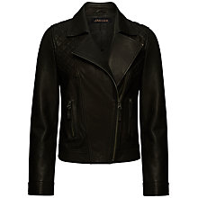 Buy Jaeger Boutique Leather Biker Jacket Online at johnlewis.com
