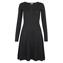 Buy Hobbs Cassie Dress, Dark Grey Melange Online at johnlewis.com