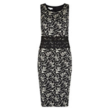 Buy Hobbs Invitation Viola Dress, Ivory/Black Online at johnlewis.com
