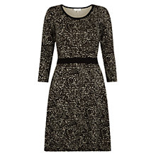 Buy Hobbs Bree Dress, Black Choc Online at johnlewis.com