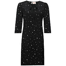 Buy Jaeger Starlight Print Dress, Black / Ivory Online at johnlewis.com