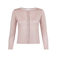 Buy Hobbs Invitation Carys Cardigan, Lace Pink Online at johnlewis.com