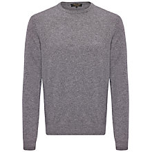 Buy Jaeger Cashmere Crew Neck Jumper, Grey Melange Online at johnlewis.com
