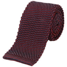Buy Jaeger Knit Pinpoint Silk Tie, Red Online at johnlewis.com