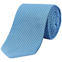 Buy Jaeger Square Link Silk Tie, Sky Blue Online at johnlewis.com