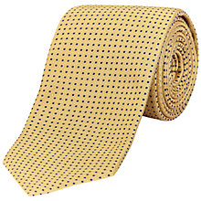 Buy Jaeger Micro Polka Dot Tie, Golden Online at johnlewis.com