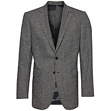 Buy Jaeger Basketweave Wool Blazer, Grey Online at johnlewis.com