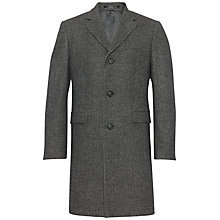 Buy Jaeger Wool Micro Check Coat, Grey Online at johnlewis.com