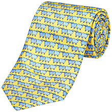 Buy Jaeger Sheep Print Silk Tie, Gold Online at johnlewis.com