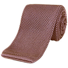 Buy Jaeger Silk Knitted Tie, Pink Online at johnlewis.com