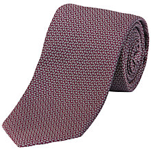 Buy Jaeger Tetris Silk Tie, Dark Pink Online at johnlewis.com