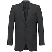 Buy Jaeger Plain Twill Classic Jacket, Charcoal Online at johnlewis.com