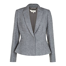 Buy Hobbs Laila Jacket, Grey Melange Online at johnlewis.com