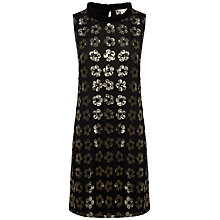 Buy Jaeger Boutique Floral Sequin Dress, Black Online at johnlewis.com