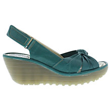 Buy Fly Yman Leather Wedge Heeled Sandals Online at johnlewis.com