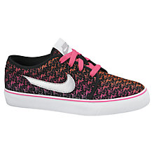 Buy Nike Children's Toki Low Top Trainers, Black/Multi Online at johnlewis.com