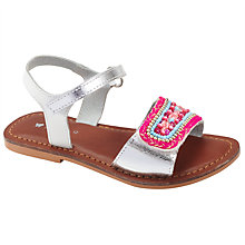 Buy John Lewis Eliza Beaded Sandals, Pink/Multi Online at johnlewis.com