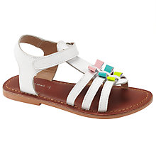 Buy John Lewis Becky Bow Gladiator Sandals, White/pink/lime Online at johnlewis.com