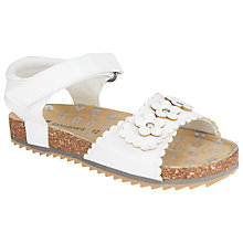 Buy John Lewis Milly Daisy Chain Velcro Sandals, White/Silver Online at johnlewis.com