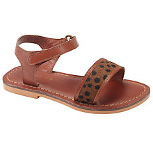 Buy John Lewis May Animal Print Sandals, Tan Online at johnlewis.com