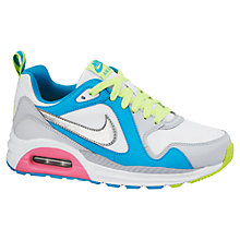 Buy Nike Children's Air Max Trax Trainers, White/Multi Online at johnlewis.com