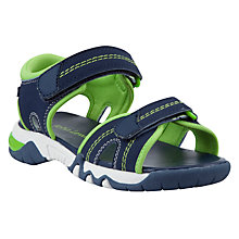 Buy John Lewis Theo Rip-Tape Trekker Sandals, Navy/Green Online at johnlewis.com