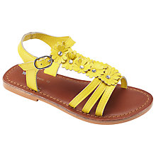 Buy John Lewis Daisy Chain Diamante Sandals, Yellow Online at johnlewis.com