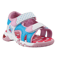 Buy John Lewis Effie Butterfly Trekker Sandals, Pink/Blue Online at johnlewis.com