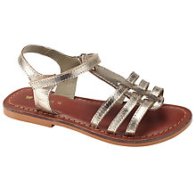 Buy John Lewis Becky Bow Gladiator Sandals, Gold Metallic Online at johnlewis.com