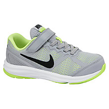 Buy Nike Children's Dual Fusion Run 3 Trainers, Grey/Black Online at johnlewis.com