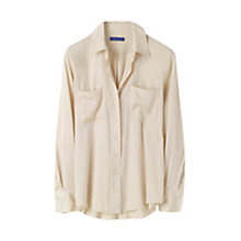 Buy Winser Silk-blend Shirt, Champagne Online at johnlewis.com