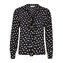 Buy Louche Jocelyn Blouse, Black Online at johnlewis.com