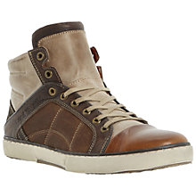 Buy Dune Seeker Hi-Top Trainers, Tan Online at johnlewis.com