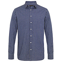 Buy Jaeger Large Check Shirt, Ink Online at johnlewis.com
