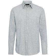 Buy Jaeger Fine Melange Gingham Shirt Online at johnlewis.com