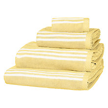 Buy John Lewis Country Stripe Towels Yellow Online at johnlewis.com