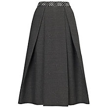 Buy Whistles Ivy Monochrome Midi Skirt, Black/White Online at johnlewis.com