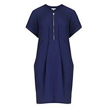 Buy Whistles Poppy Zip Front Dress, Blue Online at johnlewis.com